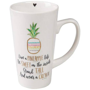 Latte Mug - Live A Pineapple Life - Red Sparrow Tea Company