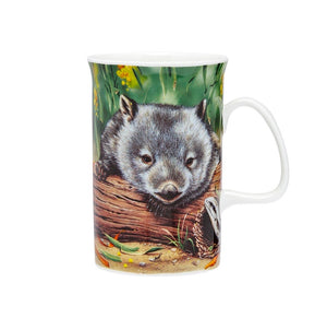 Ashdene - Fauna of Australia - Wombat & Lizard Mug - Red Sparrow Tea Company