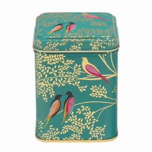 Sarah Miller - Green Birds Tin - Red Sparrow Tea Company