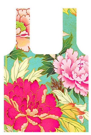 Anna Chandler - Fold Up Shopping Bag – Kimono Flowers - Red Sparrow Tea Company