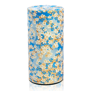 Japanese Tea Canister - Sakura Blue - Red Sparrow Tea Company
