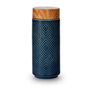 Liven Tourmaline Tumbler - The Miracle - Peacock Blue - Red Sparrow Tea Company