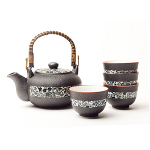 Japanese - Black Tenmoku Tea Set - Red Sparrow Tea Company