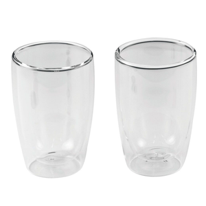 Leaf & Bean - Double Wall Coffee & Tea Glass Set - 280ml