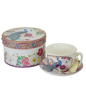 Boxed - Cup & Saucer - Peacock