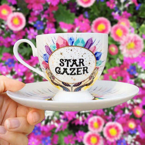 stargazer teacup and saucer set quirky