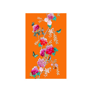 Anna Chandler - Tea Towel – Tangerine Bird - Red Sparrow Tea Company