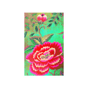 Anna Chandler - Tea Towel – Chinese Peony - Red Sparrow Tea Company