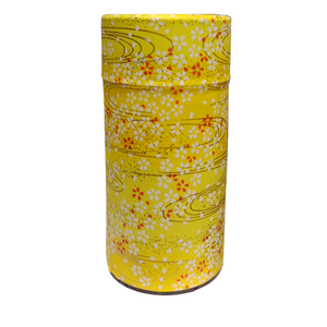 Japanese Tea Canister - Yellow Blossoms - 200g