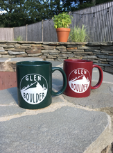 Load image into Gallery viewer, Glen Boulder Classic Mugs Shown Together outside on summer day by Glen Boulder