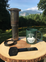 Load image into Gallery viewer, Glen Boulder Classic Mug on Green Ceramic Mug with scenic mountain view by Glen Boulder