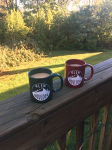 Glen Boulder Classic Mugs Shown Together on a sunny morning perfect for drinking coffee by Glen Boulder