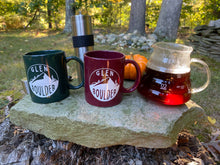 Load image into Gallery viewer, Glen Boulder Classic Mugs Shown Together on rock with fall harvest scene by Glen Boulder