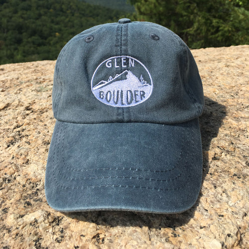 Glen Boulder Original Hat on Midnight Blue Adams Hat Front Design by Glen Boulder