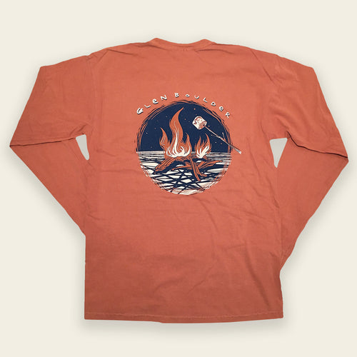 Bonfire Bliss Long Sleeve Tee - Burnt Orange