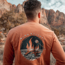 Load image into Gallery viewer, Bonfire Bliss Long Sleeve Tee - Burnt Orange