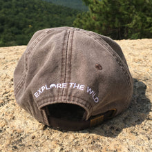 Load image into Gallery viewer, Glen Boulder Original Hat on Espresso Brown Adams Hat Back Design by Glen Boulder