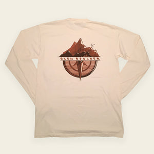 Navigator Long Sleeve on Vanilla Bean Comfort Colors Shirt Back Design by Glen Boulder