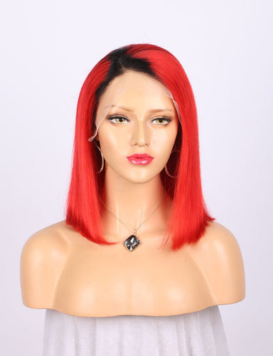 Red Full Frontal Wig