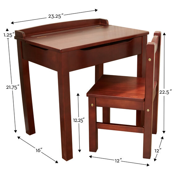 Child's Lift-Top Desk & Chair - Espresso