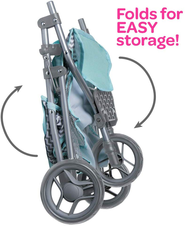 "Adora ""Zig Zag Twin Jogger Stroller"" Baby Doll Gender Neutral"