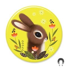 Lime Bunny Rabbit Magnet