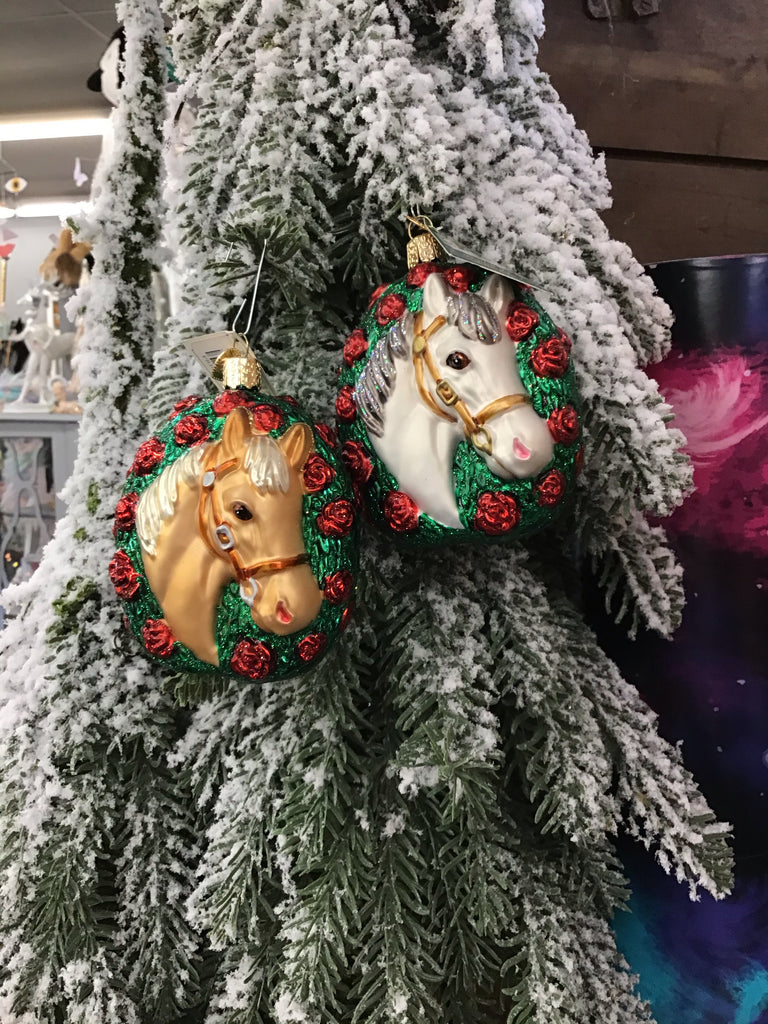 Old World Christmas Champion Horse Ornament