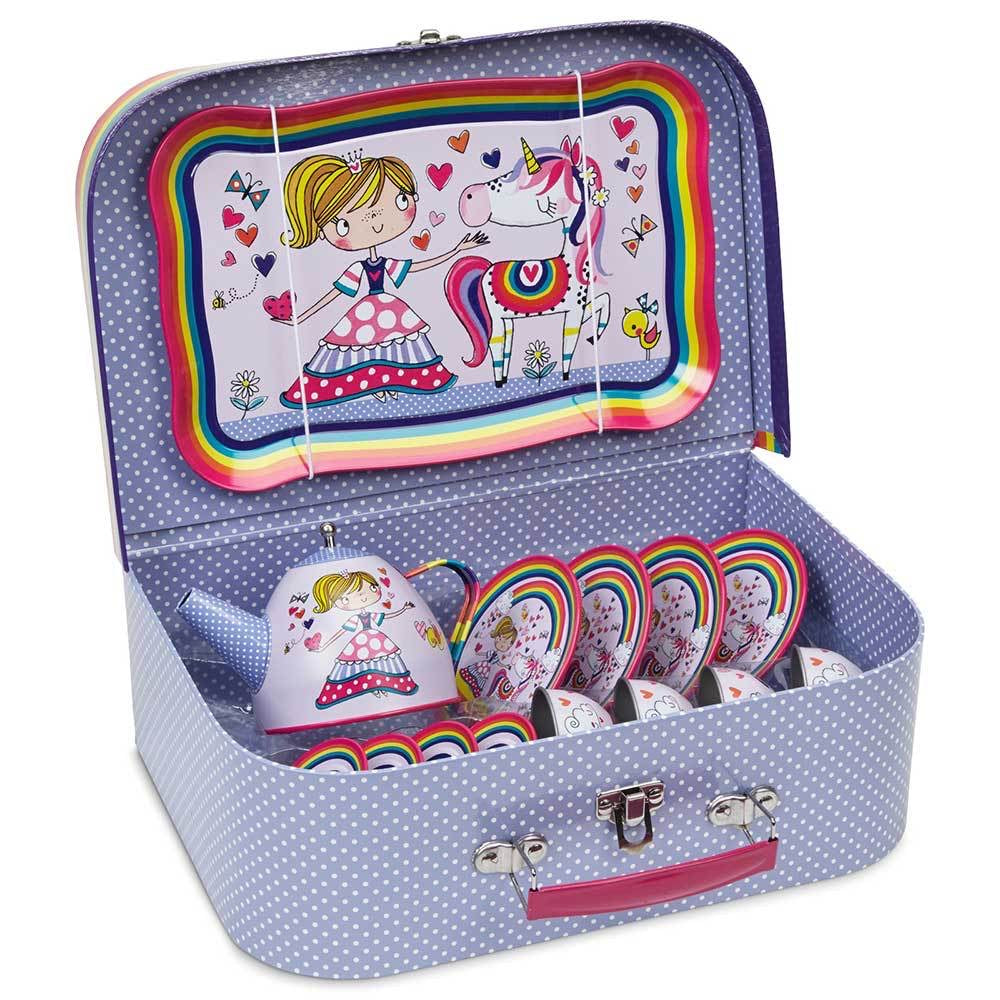 15 Piece Princess Tin Tea Set