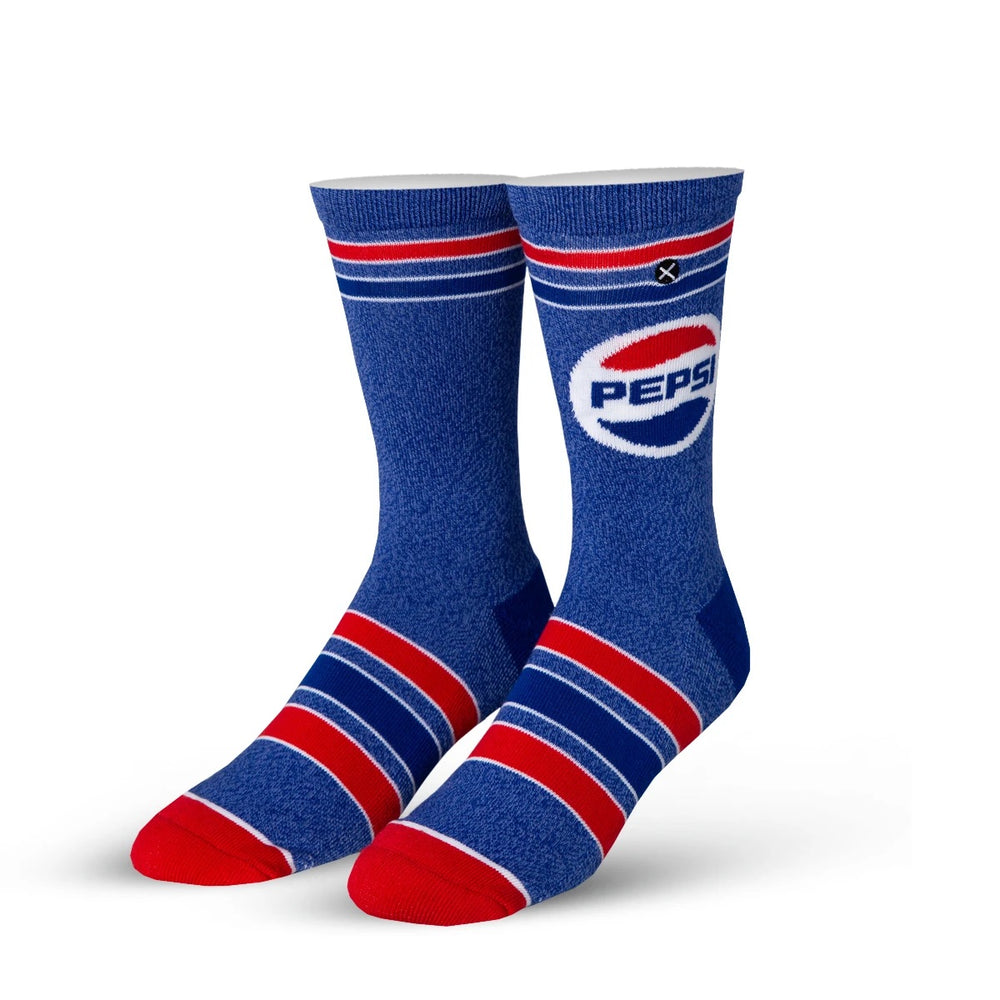 Pepsi Heather Knit Crew Socks