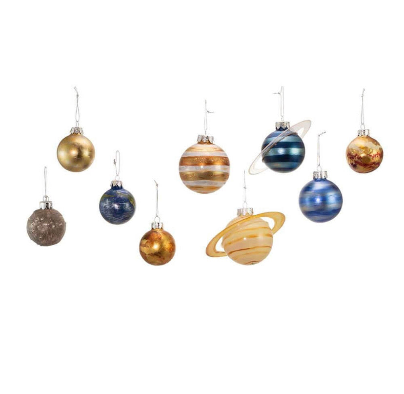 Solar System Glass Ornaments Set/9