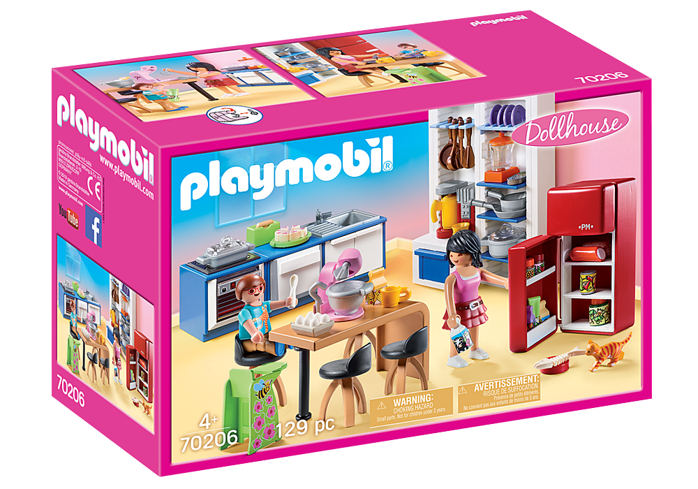 Playmobil Dollhouse 70206 Family Kitchen