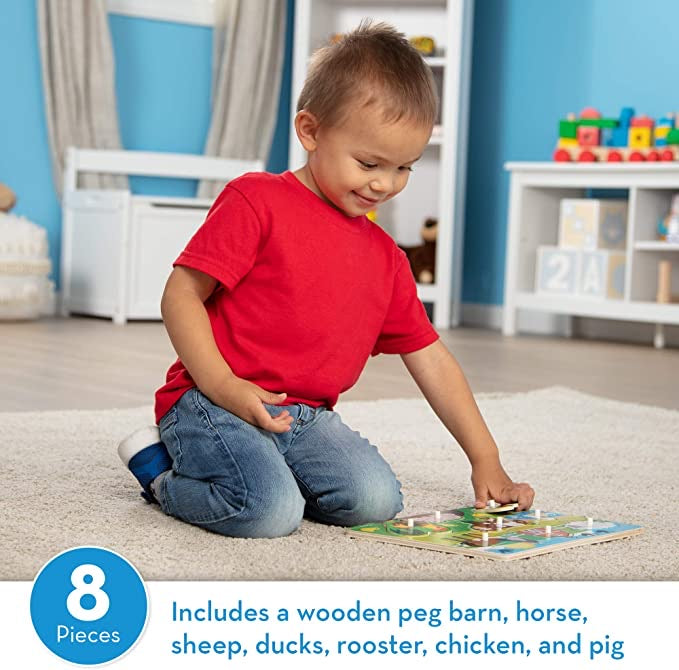 Farm Wooden Peg Puzzle