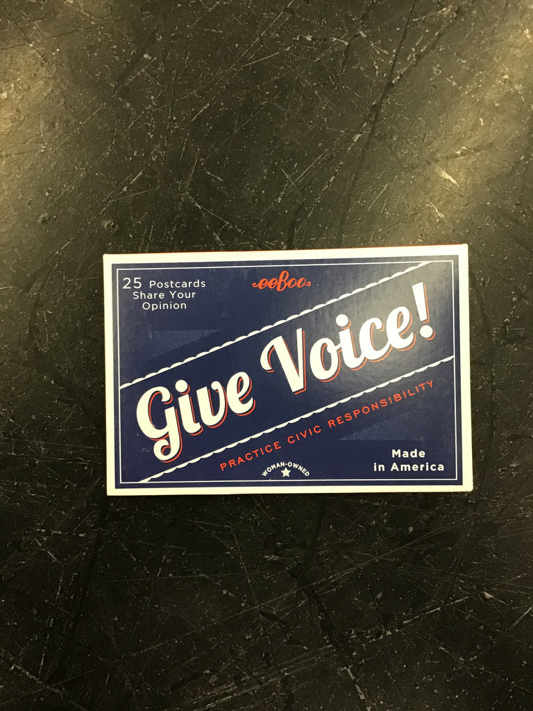 Give voice! Postcards