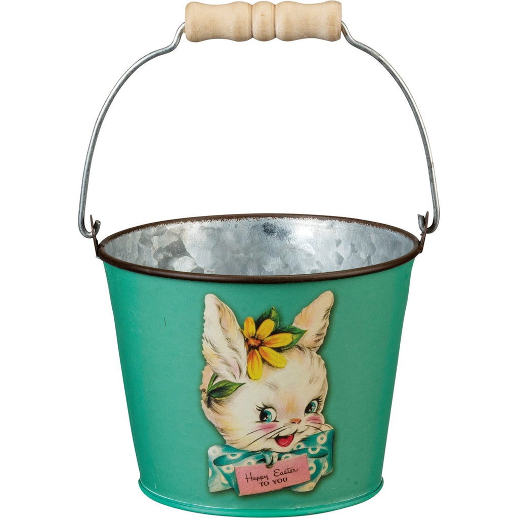 Primitives by Kathy Tin Easter Pail (Rabbit)