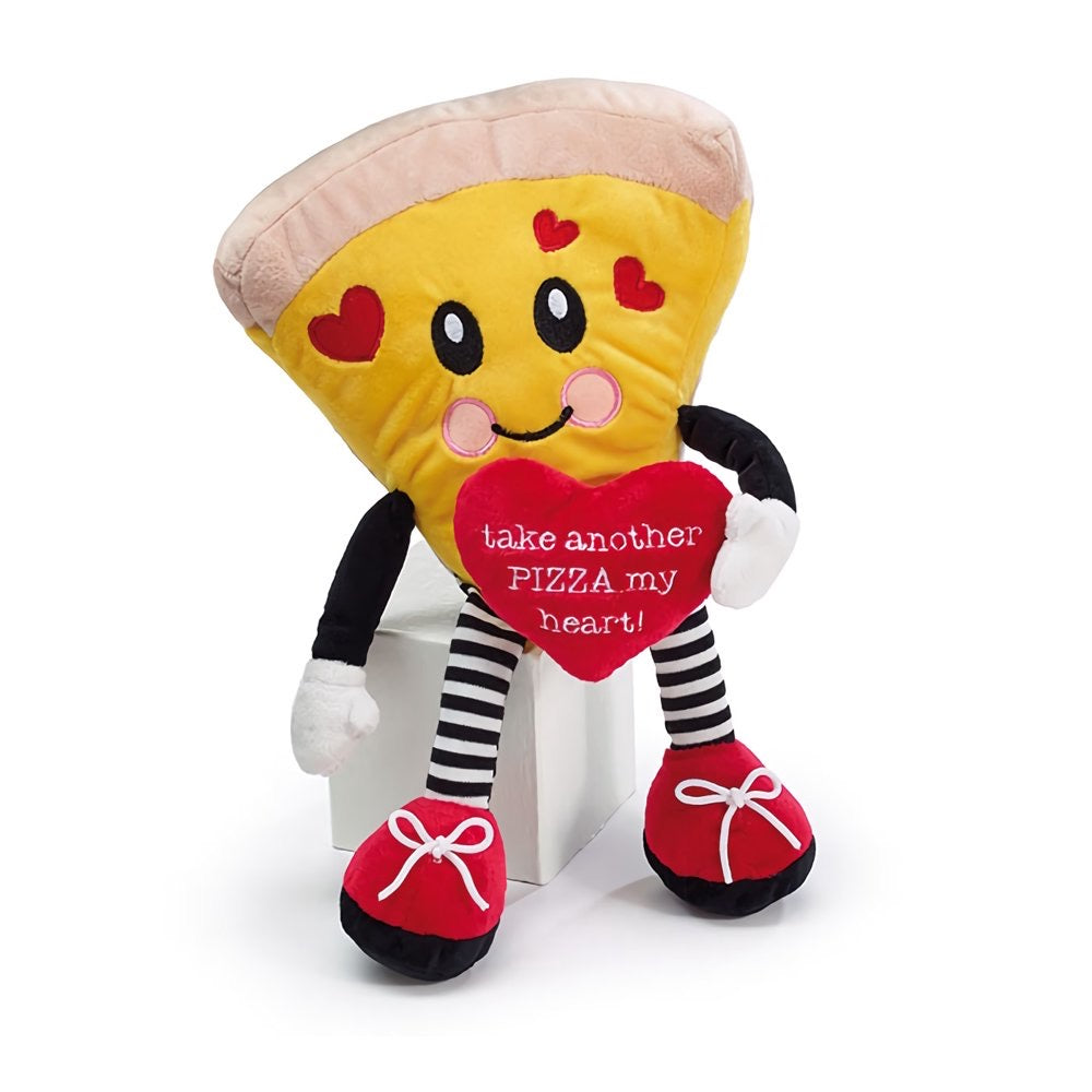 "Valentines ""Take Another Pizza My Heart"" Plush"