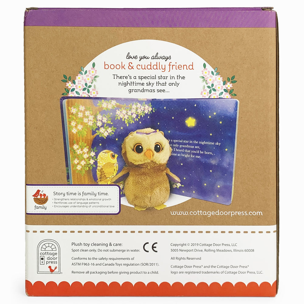 Grandma Wishes - Book and Cuddly Friend Owl
