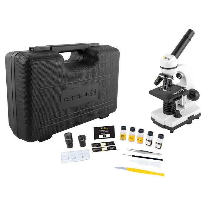 National Geographic 40x1600 Microscope w/ USB Eyepiece and Smartphone Adapter