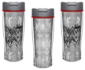 DC Comics Wonder Woman 15oz Insulated Travel Tumbler Mug, BPA-Free