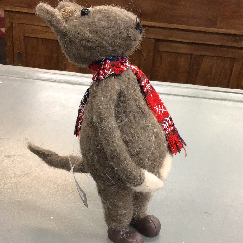 Tall Christmas Mouse with Acorn Hat