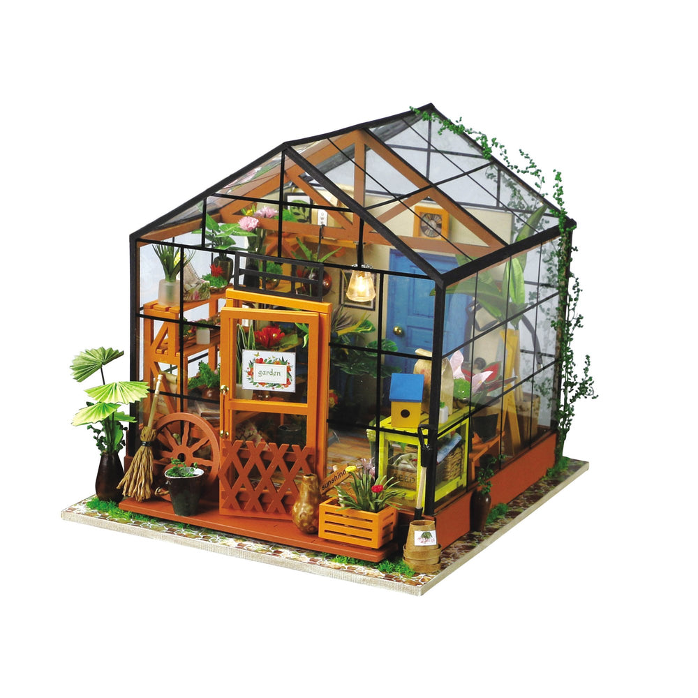 3D Wooden Puzzle Miniature House: Cathy's Flower House