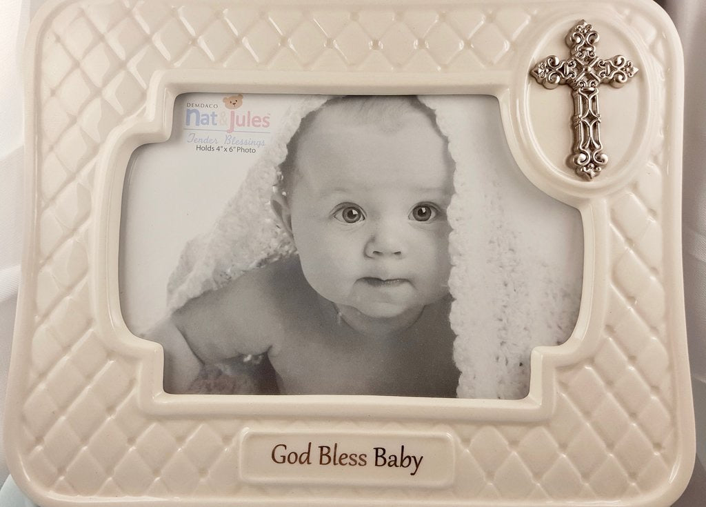 God Bless Baby Picture Frame