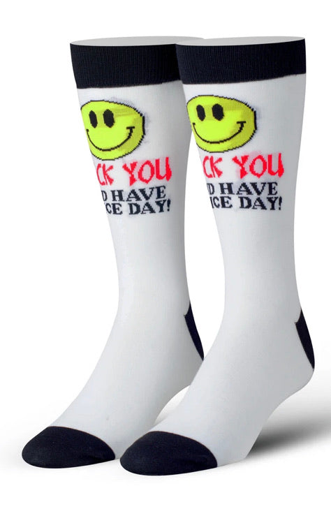 FU Have and Have A Nice Day Crew Socks