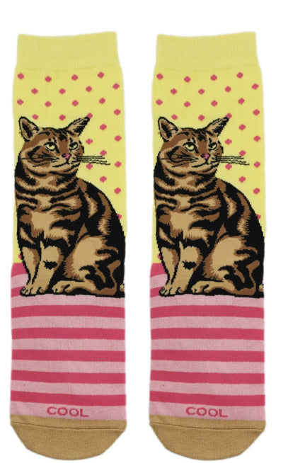 Tabby Cat Women's Crew Socks