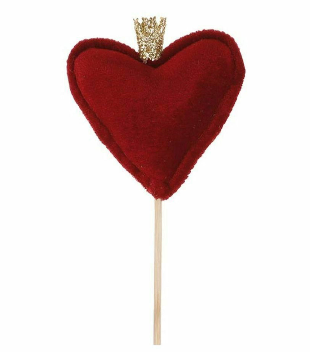 "18"" Heart with Crown Pick"