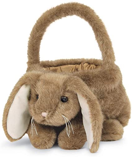 "Bunny Rabbit Easter Egg Basket, Brown 12"" x 13"""