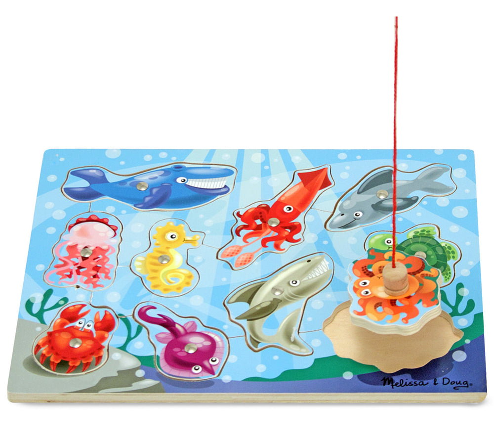 Fishing Wooden Magnetic Puzzle Game