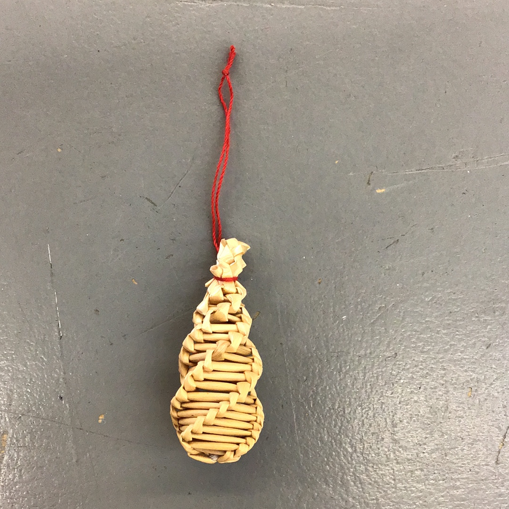 Miniature German Straw Tree Ornament- G1