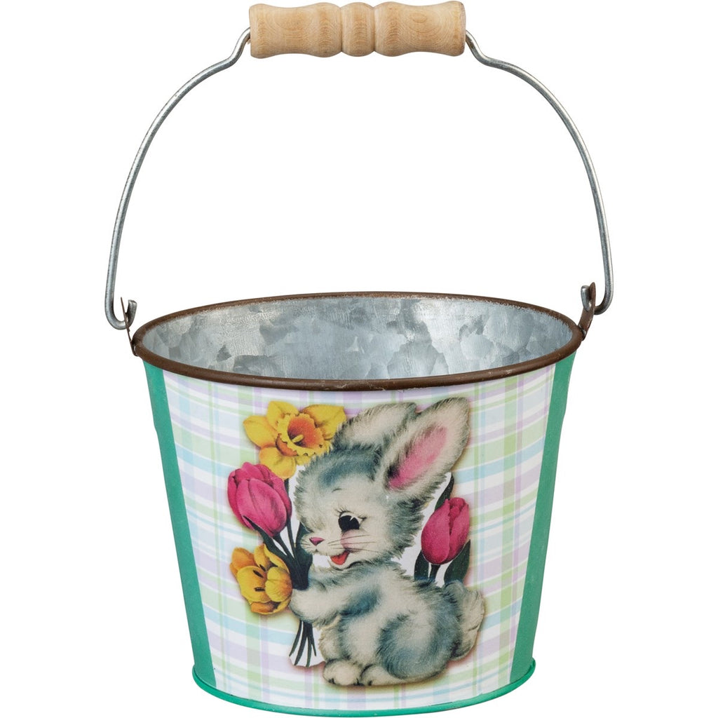Primitives by Kathy Tin Easter Pail (Bunny)
