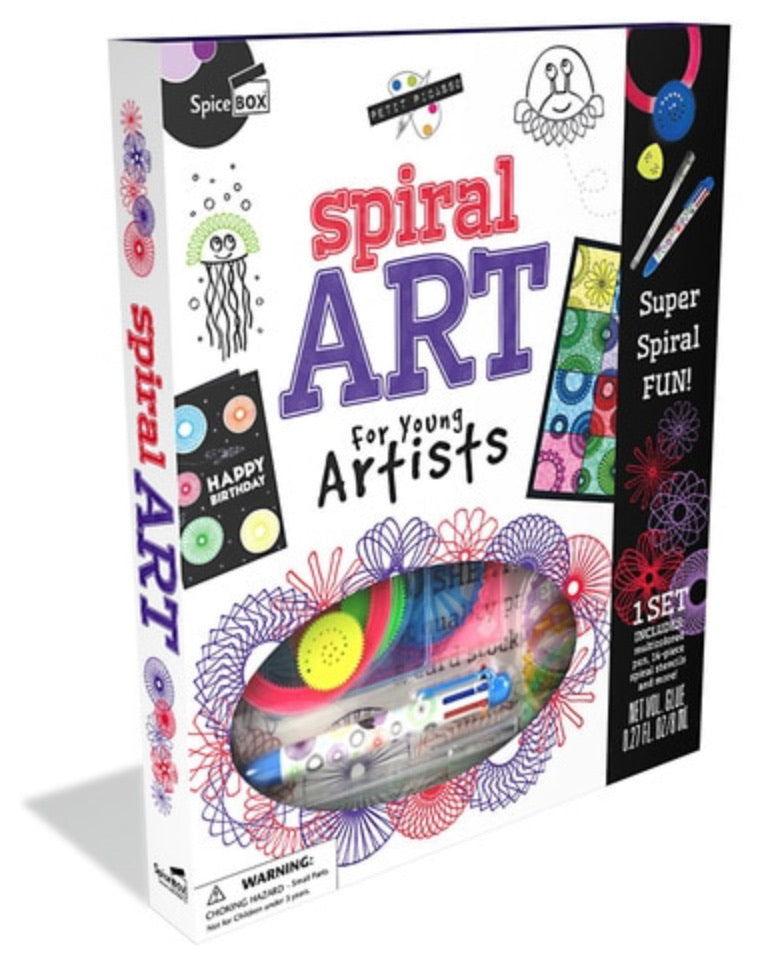 Spiral Art for Young Artists