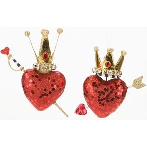 Cupid Heart with Crown Ornament- MR21